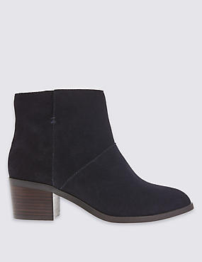 Stain Away™ Suede Ankle Boots with Footglove™