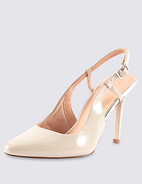 High Cut Slingback Court Shoes with Insolia®