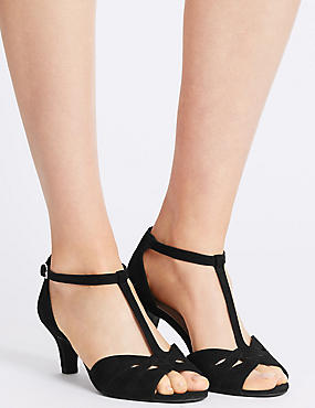 Wide Fit Suede Stiletto Sandals