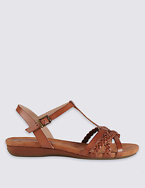 Wide Fit Leather Sandals