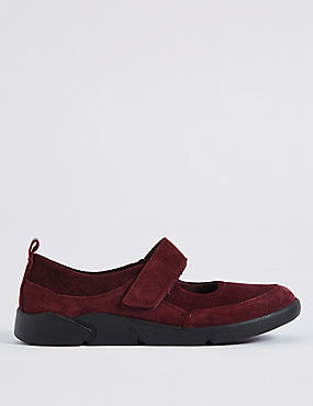 Suede Riptape Pump Shoes