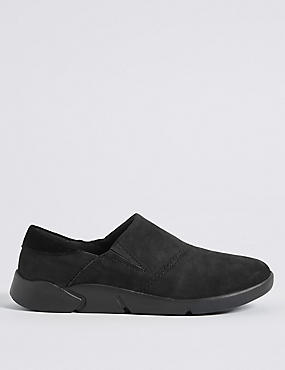 Suede Flex Slip-on Trainers
