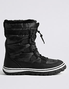 Waterproof Lace-up Ankle Boots