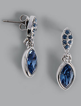 Pavé Navette Diamanté Drop Earrings MADE WITH SWAROVSKI® ELEMENTS