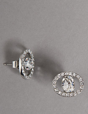 Circular Sparkling Earrings MADE WITH SWAROVSKI® ELEMENTS