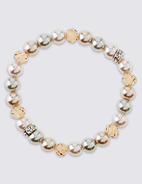 Pearl Effect Sparkle Stretch Bracelet