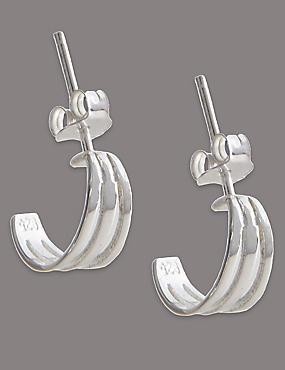 Sterling Silver Hoop Earrings, , catlanding