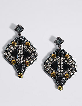 Encrusted Drop Earrings