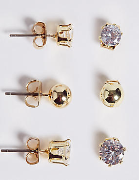 Mixed Stud Earrings Set, , catlanding