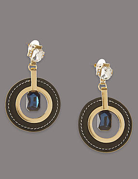 Circle Glamour Drop Earrings