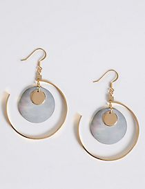 Charm Discs Hoop Earrings
