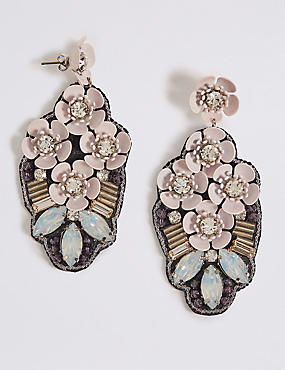 Multi Flower Drop Earrings