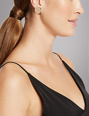 Button Earrings, , catlanding