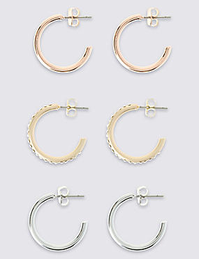 Mini Hoop Earring Set