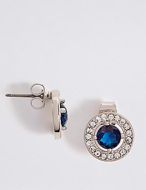 Platinum Plated Bling Stud Earrings  , , catlanding