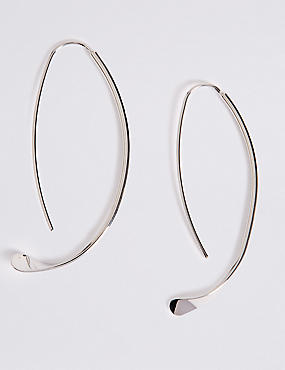 Sleek Through Hoop Earrings