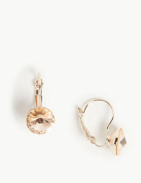 Glamorous Drop Earrings with Swarovski® Crystals, PEACH MIX, catlanding