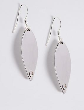 Crystal Wave Drop Earrings, , catlanding