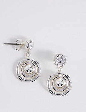 Sparkle Spinning Drop Earrings