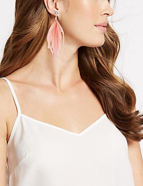 Sparkle Duster Drop Earrings, PINK MIX, catlanding