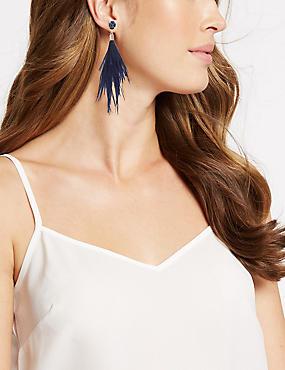 Sparkle Duster Drop Earrings, BLUE MIX, catlanding
