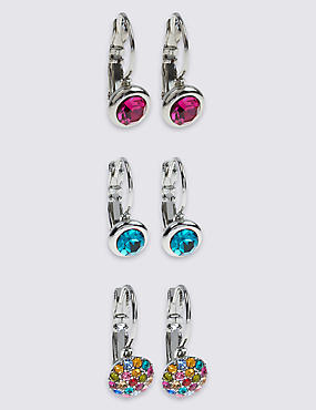 Assorted Diamanté Earrings Set
