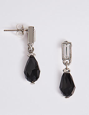 Multi-Faceted Tear Drop Earrings