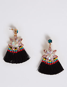 Floral Fringe Drop Earrings