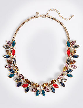 Multi Leaf Collar Necklace