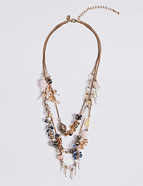 Cluster Row Necklace