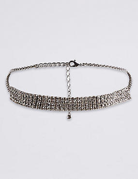 Cup Chain Choker Necklace