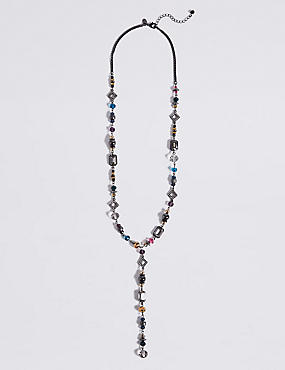 Pretty Beaded Long Necklace
