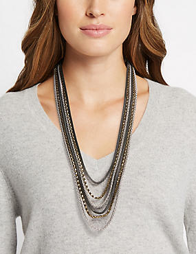Darkness Multi Row Necklace