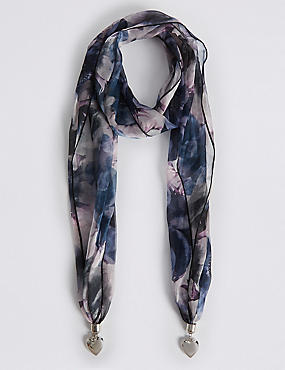 Pretty Petal Scarf Necklace, , catlanding