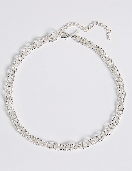 Silver Plated Multi Link Necklace
