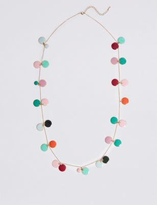 Disc Cluster Necklace by M&S Collection