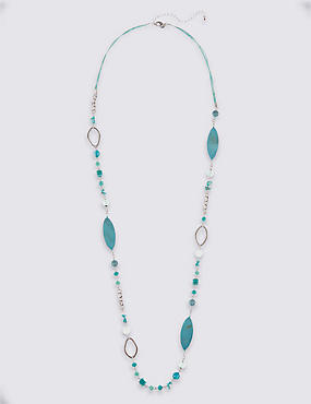 Oval Beaded Rope Necklace