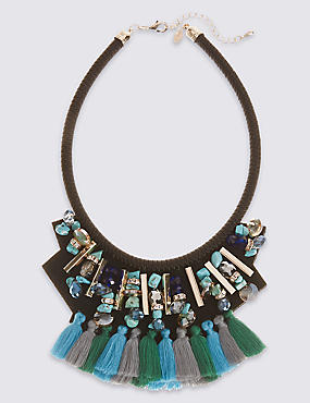 Tassel Bib Collar Necklace