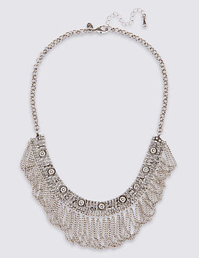 Loop Chain Collar Necklace