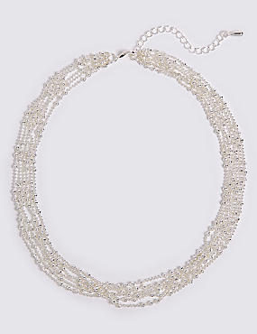 Silver Plated Multi Layered Necklace