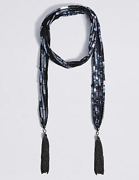 Sequin Scarf Necklace