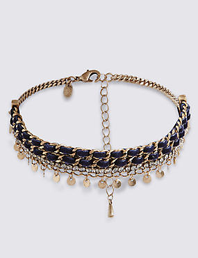 Sparkle Droplets Choker Necklace
