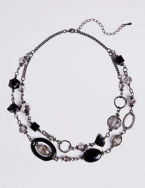 Double Party Row Necklace, , catlanding
