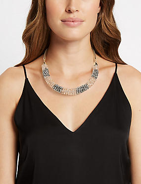 Crystal Mix Up Necklace, , catlanding