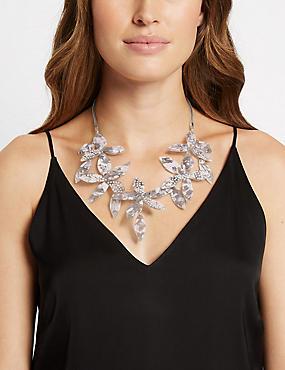 Dramatic Flower Necklace, , catlanding