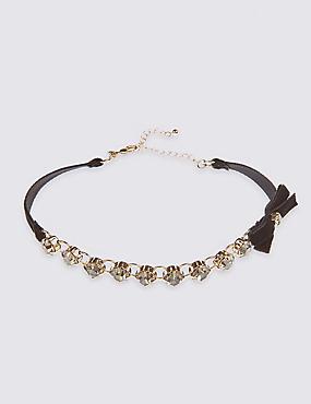 Diamanté Chain Choker Necklace
