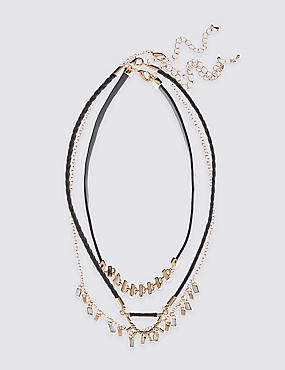 Stud Layered Chocker Necklace