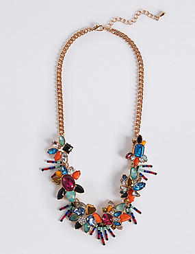Multi Flower Collar Necklace