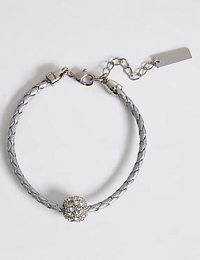 Pavé Ball Plaited Bracelet MADE WITH SWAROVSKI® ELEMENTS