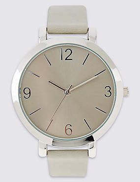 Smooth Round Face Watch